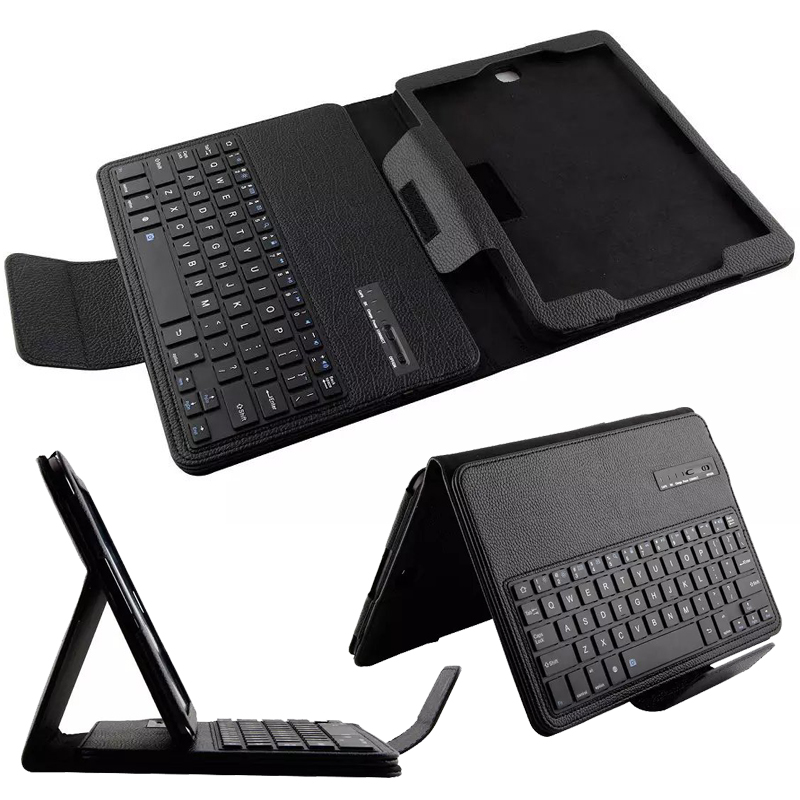 Wireless Bluetooth Keyboard +PU Leather Cover Protective Smart Case For Samsung GALAXY Tab S2 9.7 T810 T815 + Gift