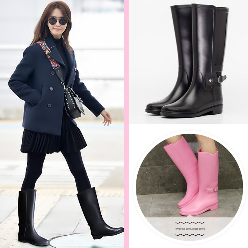ФОТО Tongpu Water Shoe High Boot Buckle Attached Inexpensive Trend Lead Style Classical British