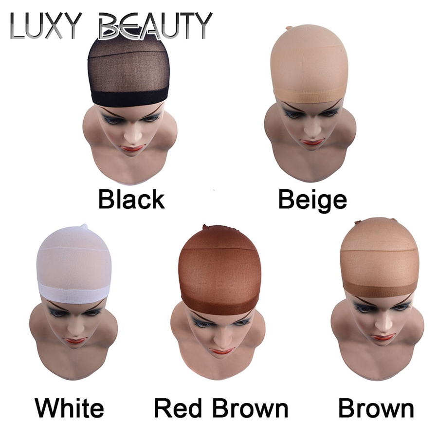 10pcs Lace Wig Cap Stretchable Elastic Hair Nets Snood Wig Cap Hairnets For Making Wigs Free Size Unisex Human Hair Extension Clients First