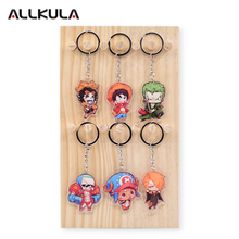2018 One Piece Action Figure for Keychain Chopper/Monkey D Luffy Customized Double Sided Game Peripherals Best Gift AKL166