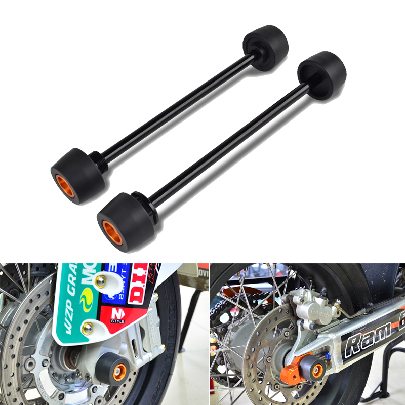 Front Rear Axle Slider Wheel Crash Protector For KTM 690 Duke SMC Supermoto R Crash Pad