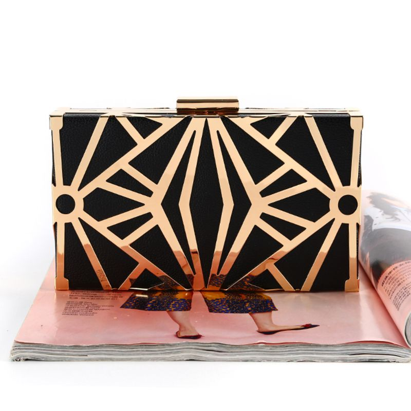 Geometric Women Clutch Bag Box Evening Party Bags Chain Shoulder Purse Evening Bag For Christmas Gift Purses And Handbags