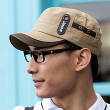 Summer cap hat baseball cap sun shading Flat Top Men Hat font b snapback b font