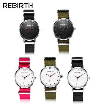 Возрождение Для женщин Мода часы нейлон группа Дамы Спорт краткий Повседневное Роскошные Бизнес наручные часы