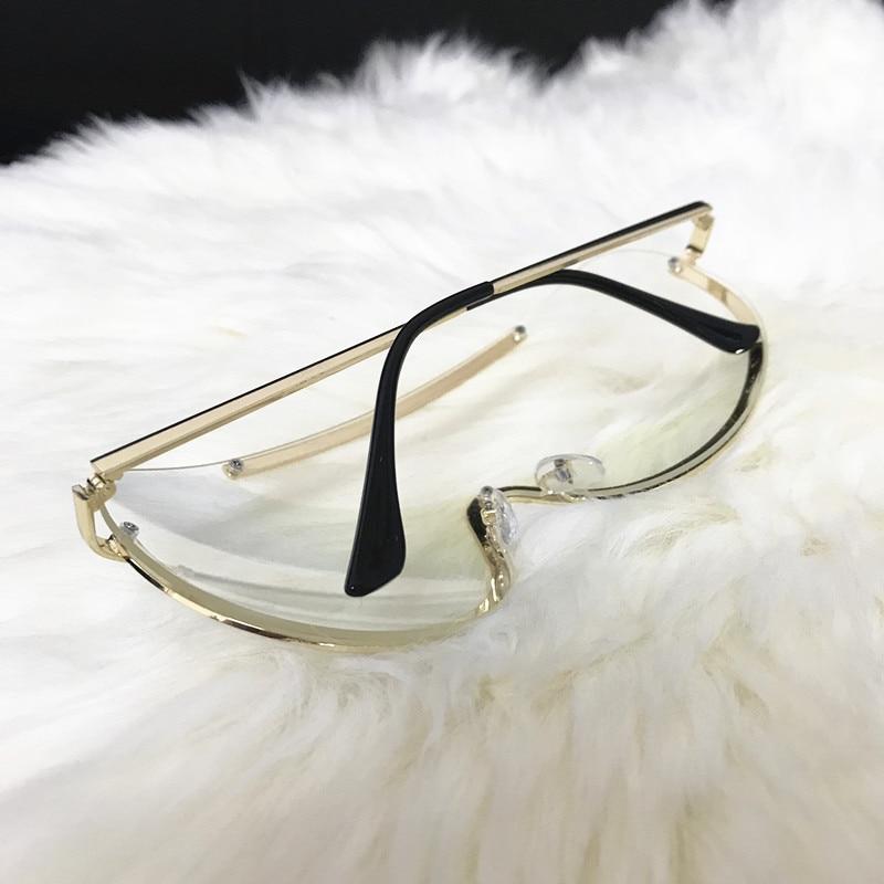 Rimless Gold Clear Sunglasses Men Women Brand Designer Aviator Clear Sunglasses 6