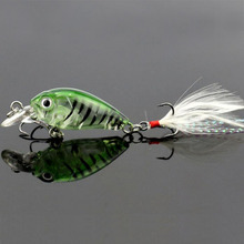 Artificial Lures With Feather Bionic Bait Luxury Fishing Tackle Random Color
