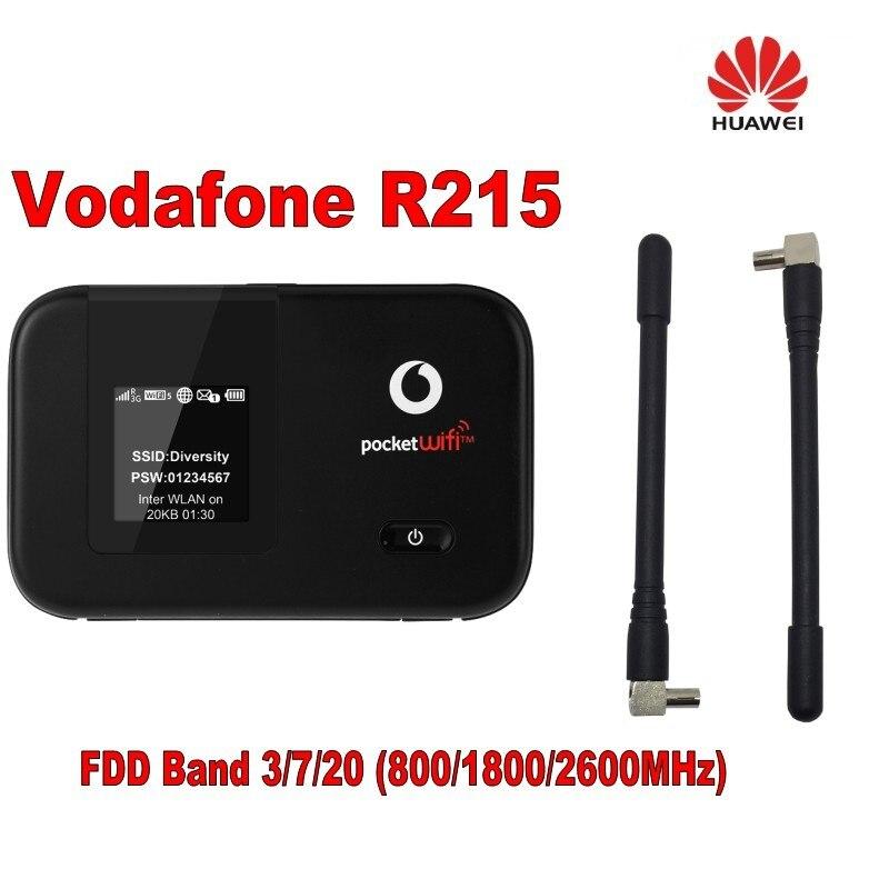 Original Vodafone R215 WIFI Hotspot 150Mbps LTE Mobile WiFi Router plus 2pcs 4g antenna huawei vodafone r208 lte mobile wifi router