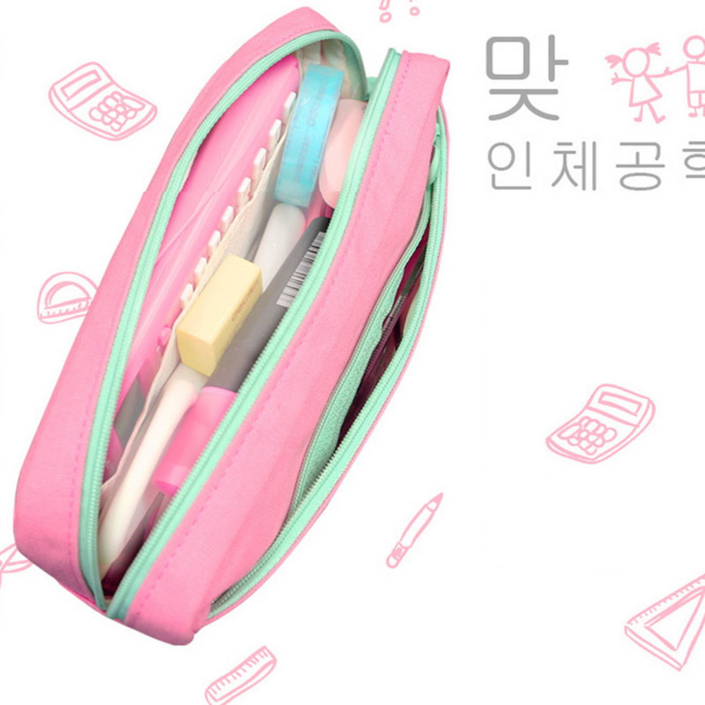 Cute School Pencil Case For Girls Large Capacity Canvas Pencil Bags Multifunction Pencase Storage Manager Stationery cute balloon pencil korea creative stationery bags large capacity pencil school work muslin gift girls