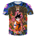 Men Women Classic Anime t shirts Dragon Ball Z Super Saiyan Tees Battle Kid Goku 3D t shirt Male Galaxy Tee Shirts Tops