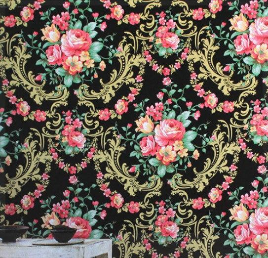 Americain Rustique Vintage Fleur Nostalgie Papier Peint De Haute