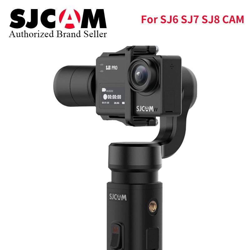 Presente de natal SJCAM SJ-Cardan 2 3 Eixo CARDAN Handheld Estabilizador de Controle Bluetooth para SJ6 SJ7 SJ8 Pro/ plus/Ar Câmera de Ação