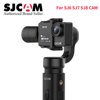 Regalo de Navidad SJCAM cardán de mano sj-gimbal 2 3 Axis estabilizador Bluetooth Control para SJ6 SJ7 SJ8 Pro/Plus/Air Action Cámara