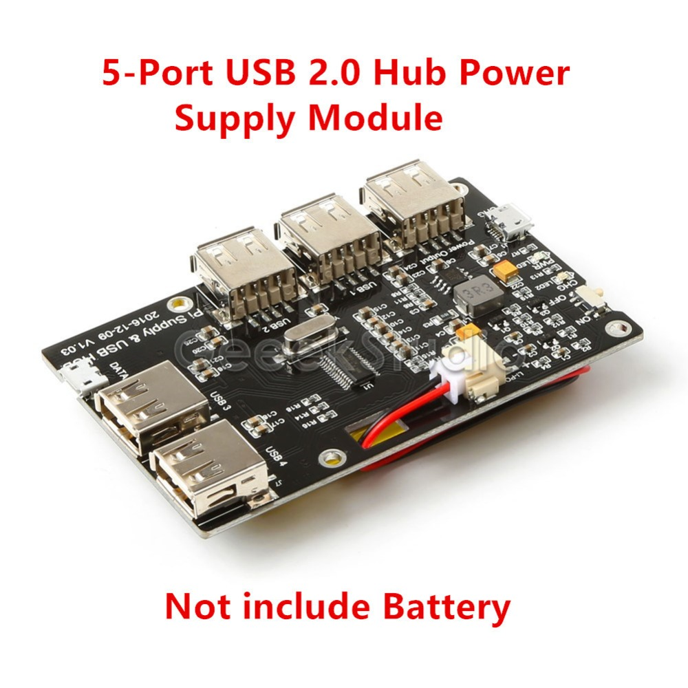 5-Port USB 2.0 Hub Power Supply Module, Not Include Battery, for Raspberry Pi 3/2 Model B/A+/Pi Zero rolyan port a splint kit model a4264