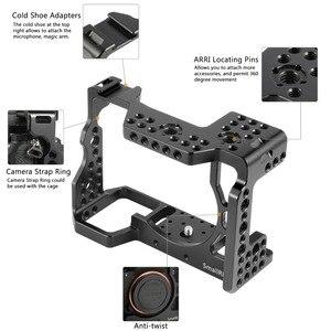 Image 4 - كاميرا صغيرة a7r3 هيكل قفصي الشكل للكاميرا لسوني a7m3 لسوني A7R III كاميرا/A7 III قفص تلاعب ث/مقبض علوي قبضة الكاميرا الكرة رئيس 2103