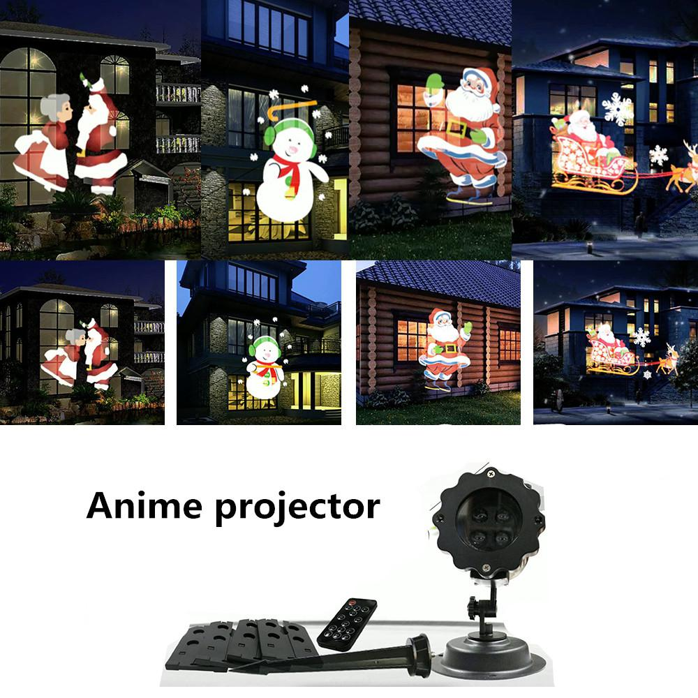HobbyLane Christmas Series Pattern LED Projector Light With 6 Slide Cards Indoor Outdoor Garden Lamp Decorative Lights