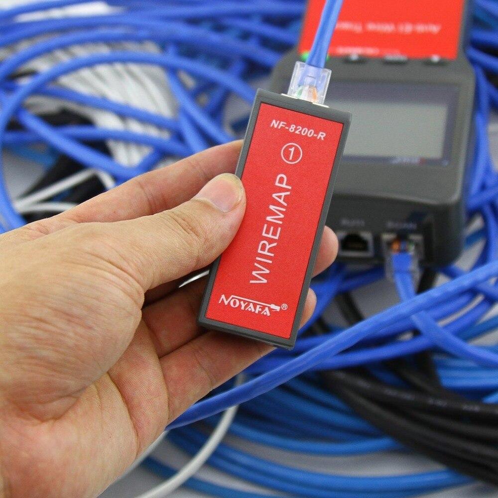 Noyafa LAN RJ45 testeur de câble réseau Ethernet testeur de longueur de câble avec écran LCD rétro-éclairage - 4