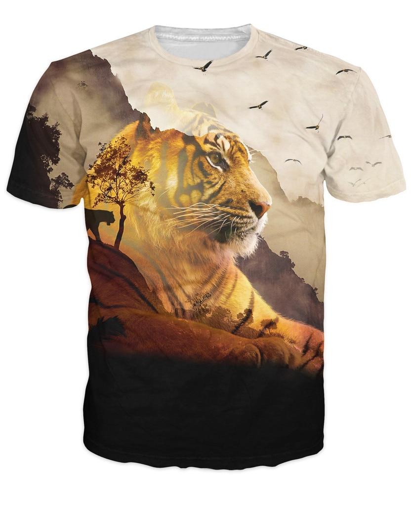 Tiger Valley T Shirt Women Men 3D Print t shirt Fashion ...