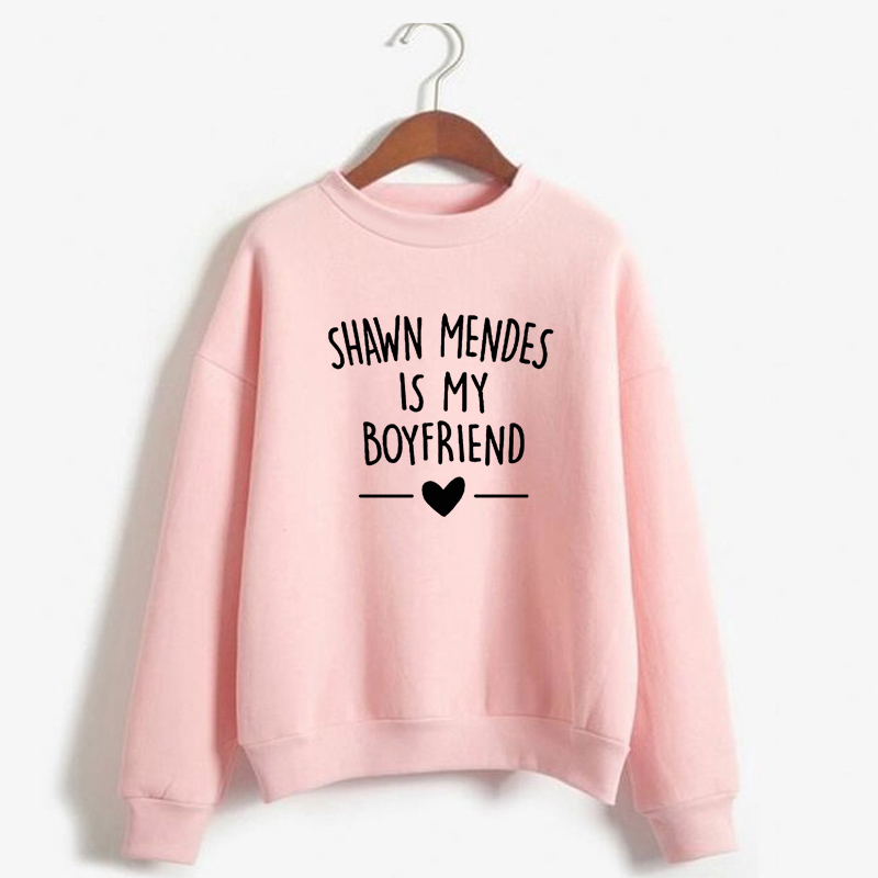 Shawn Mendes Hoodies Women Men Harajuku Autumn Winter Sweatshirt Shawn Mendes Is My Boyfriends Letter Printed Casual Sweatshirt