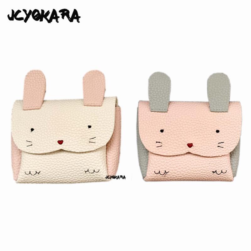 JCYOKARA Baby Kids Super Cute Rabbit Messenger Bag Girl Small Animal Rabbit Coin Purse Toddler Kids Mini PU Bag Around 13*11.5cm