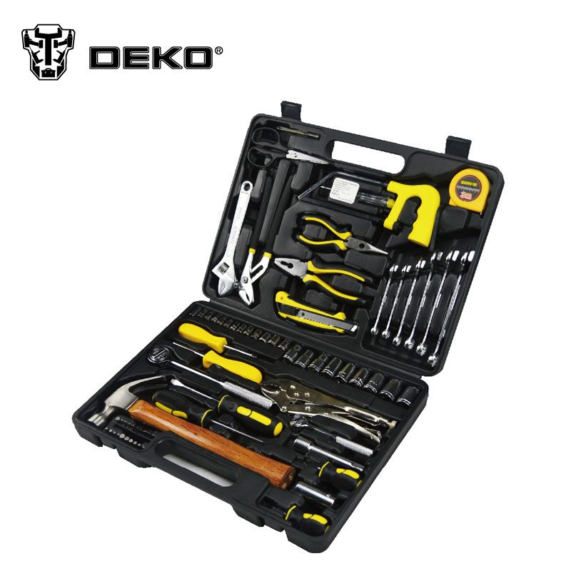 DEKO 78pcs Wrench Screwdriver Hand Tool Set 20pcs m3 m12 screw thread metric plugs taps tap wrench die wrench set