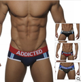 Addicted new Arrival, Men penis pouch briefs,comfortable inner wear 2016 fashion,2 pcs a lot free shipping