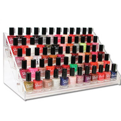 Hold 60 Bottles Nail Polish Display Rack, Acrylic Holder, Salon Equipment, Table Free Ship - MINI 0.99$ DEAL NAIL ART SUPPLY store
