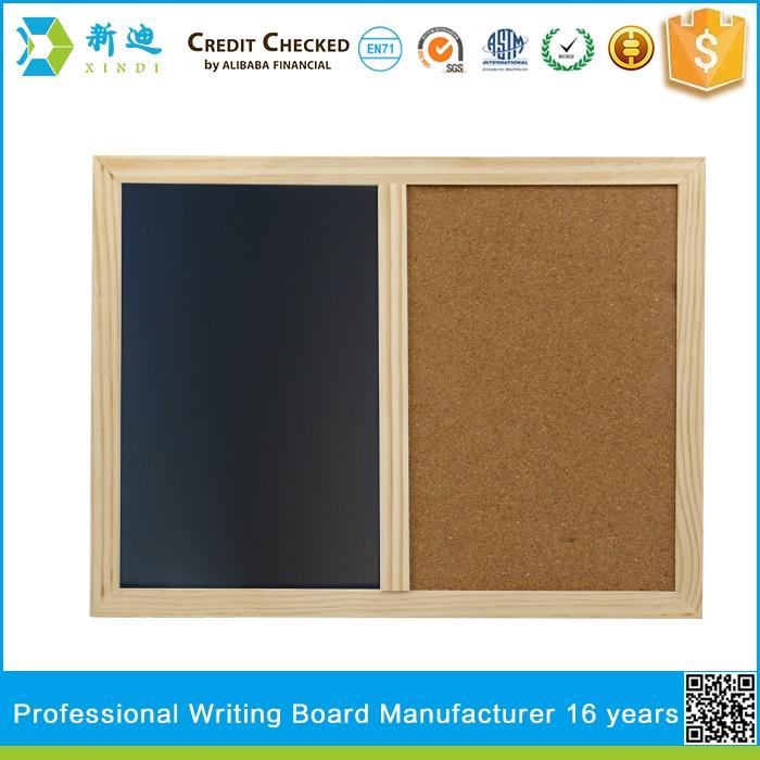 XINDI New 2018 Wooden Frame 60*40cm Cork Board Magnetic BlackBoard  Combination Message Boards Office Supplier Chalkboard In Drawing Board From  Office ...