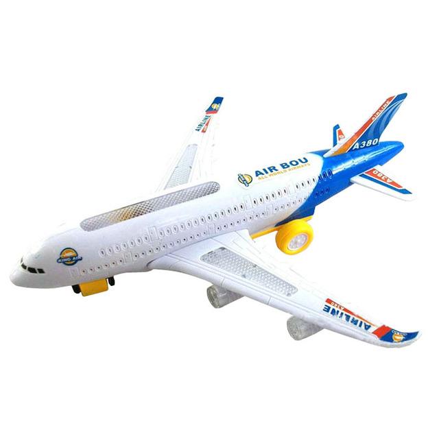 New2015 Nueva Eléctrico Del Aeroplano Del Juguete Niño Juguetes En Movimiento Luces Intermitentes Niños Juguete DIY de Montaje De Aviones Regalo Envío Gratis
