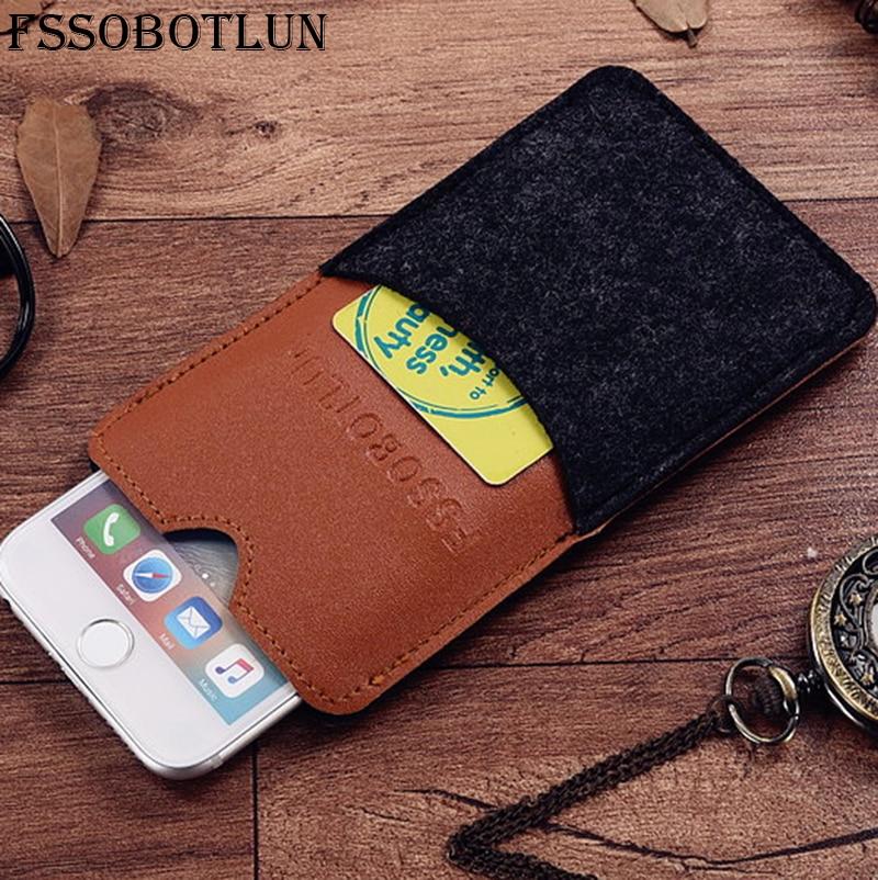 """Fssobotlun, 6 стилей, для Wiko lenny3 Max 5.0 """"телефон Защитный Чехол ручной работы шерсть Фетр рукава карты карман сумки"""