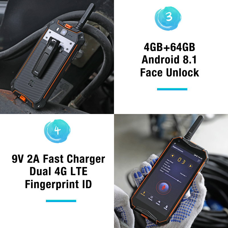 Image 4 - Ulefone Armor 3T IP68 Waterproof Mobile Phone Android 8.1 5.7inch 21MP helio P23 Octa Core NFC 10300mAh Walkie Talkie Smartphone-in Cellphones from Cellphones & Telecommunications