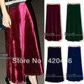 New Fashion Women Sexy Vintage Elasticated High Waist Full Soft Velvet Maxi Long Skirt Free Shipping