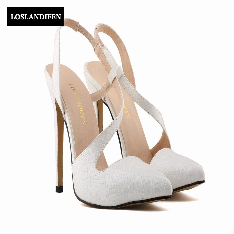 Europear Summer Fashion High Thin Heel Sandals Pointed Toe Patent Leather Slip On Women Dress Shoes Footwear Zapatos Mujer women t strap moccasins flat shoes low heel sandals black gray pink pointed toe ballet flats summer buckle zapatos mujer z193