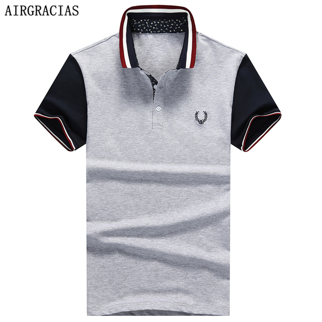 AIRGRACIAS High quality brand men polo shirt new summer casual printed cotton men's polo solid polo shirt polo ralphmen Homme