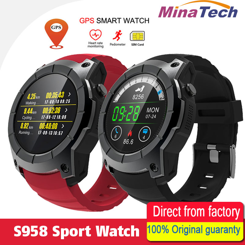 GPS SIM card GSM Sports Watch S958 MTK2503 Heart rate monitor Smartwatch multi-sport model smart watch for Android IOS