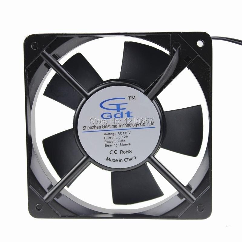 10 Piece lot 12025 12cm 2wires 120mm x 25mm Fan AC 110v 120V Cooler ...