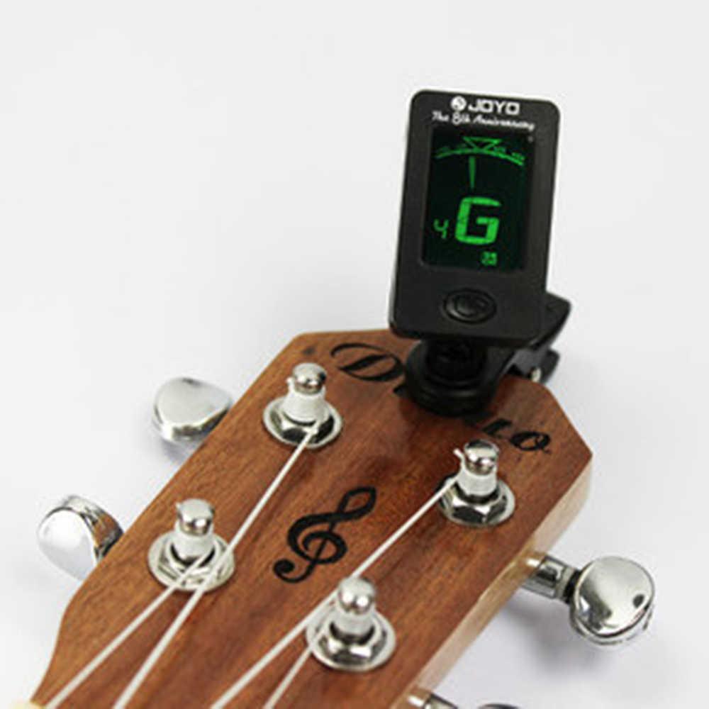 Chromatyczny Clip-On cyfrowy Tuner do akustyczna elektryczna gitara basowa skrzypce Ukulele akcesoria k5