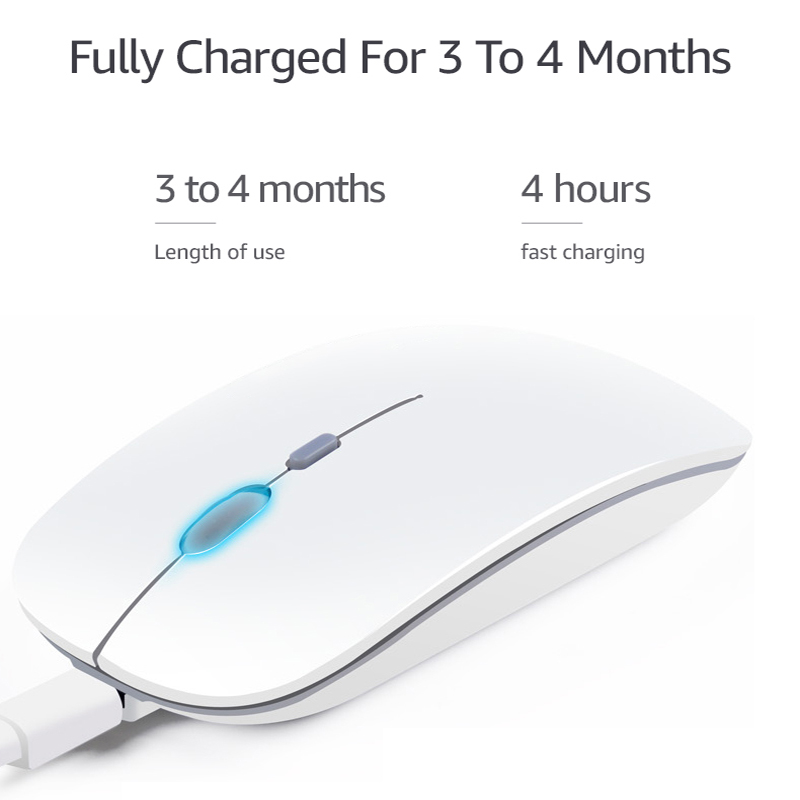 Wireless Mouse Computer Bluetooth Mouse Silent PC Mause Rechargeable Ergonomic Mouse 2.4Ghz USB Optical Mice For Laptop PC 1