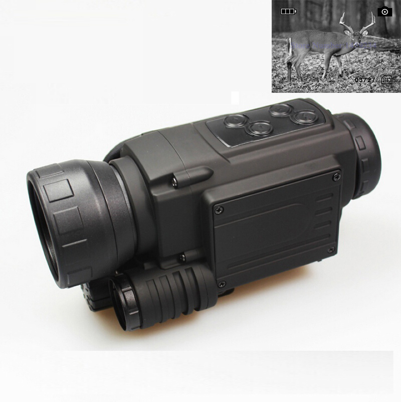 New Full dark 200m day and night use hunting Digital Infrared Monocular Night vision scope night vision device NV005 wgx2 hd night vision rilfescope 1280x720 display night vision hunting scope digital ir night vision scope optical 200m range