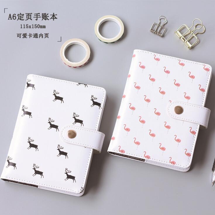 Cuaderno de tapa dura de ciervo Flamingo fresco Bloc de notas de bolsillo regalo promocional papelería