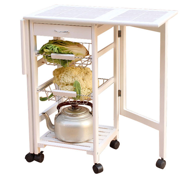 drop leaf kitchen cart white backsplash folding island trolley storage drawers baskets rolling us