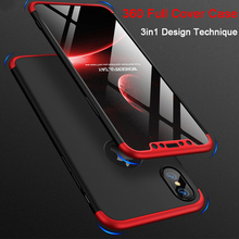 e55ee6bdf39 360 Degree Full Cover Case for iPhone X Xs Max 3 in 1 Matte Hard Smooth