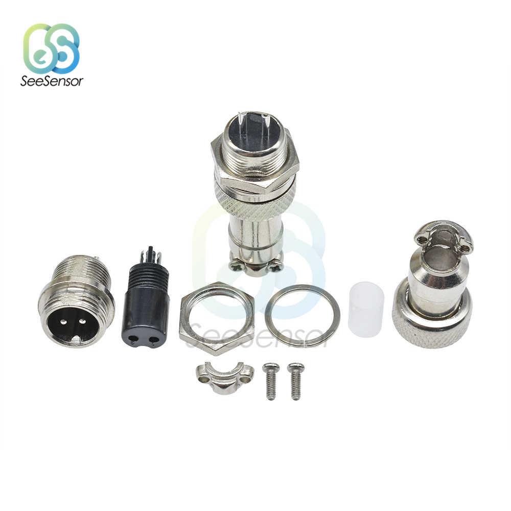 1set GX12/2/3/4/5/6/7 Pin macho + hembra 12mm L88-93 Circular conector Circular macho de panel conector de plástico con tapa