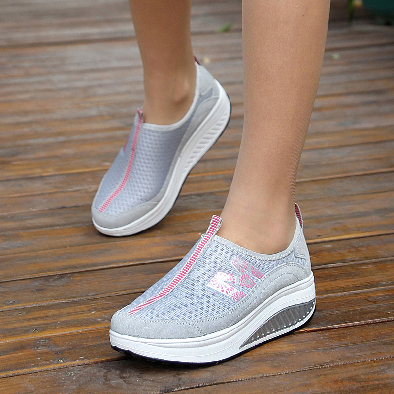 Summer Women Shoes Fashion Casual Walking Shoes Breathable Air Mesh Fitness Ladies Shoes krasovki Women Height