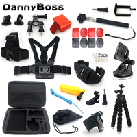 action camera accessories set for go pro hero 7 6 5 4 3 accessories for xiaomi yi for sjcam sj5000 for eken h9r
