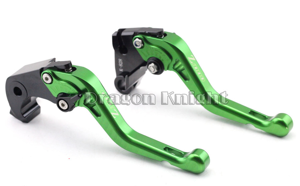Motocycle Accessories For KAWASAKI Z 1000 07-15 Short Brake Clutch Levers Green