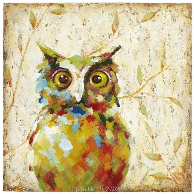 modern wall art bird painting for home wall decoration handmade oil ...