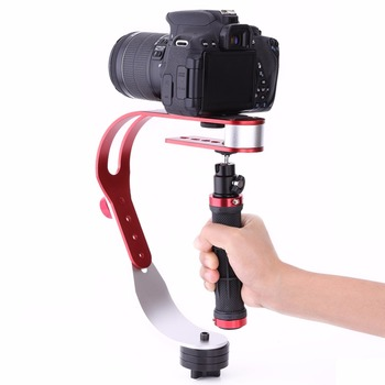 Handheld Stabilizing Gimbal for Gopro DSLR SLR Digital Camera with Aluminum Alloy in Universal Red
