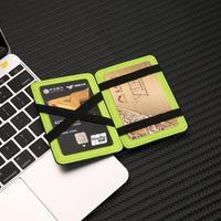 карман тонкий держатель для карт спереди ультра минималистский бумажник дело синтетическая кожа карты