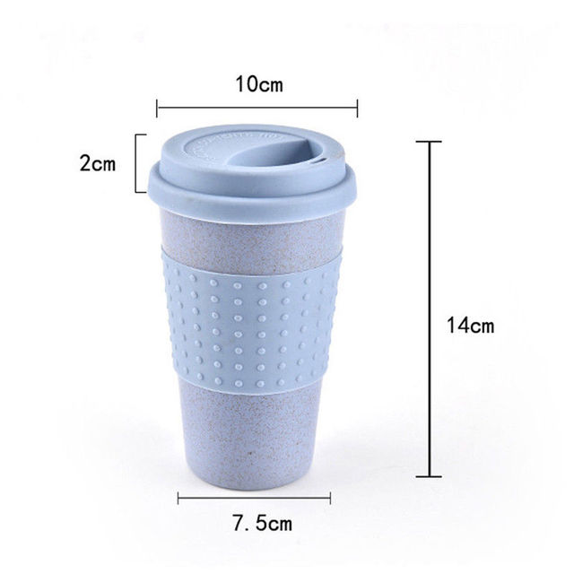 2018 Newest Hot Reusable Bamboo Coffee Cups Eco Friendly Travel Mugs 12oz 14oz