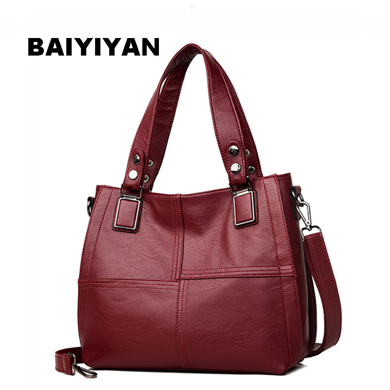 Fashion Luxury Patchwork Women's Tote Bags Designer High Quality Soft PU Leather Handbag For Ladies Shoulder Bag